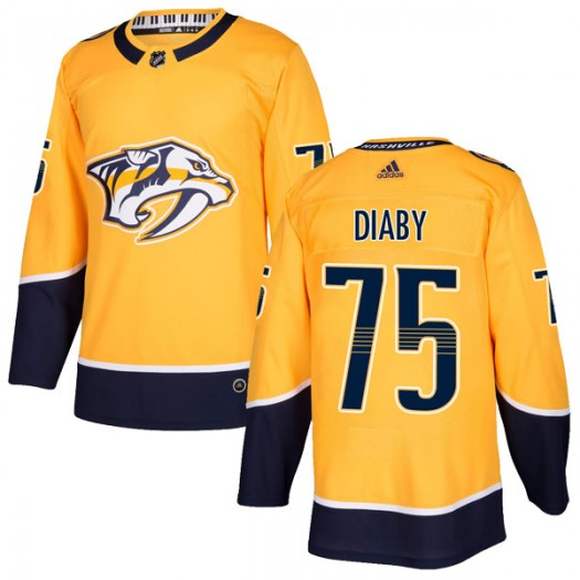Jonathan-Ismael Diaby Nashville Predators Youth Adidas Authentic Gold Home Jersey