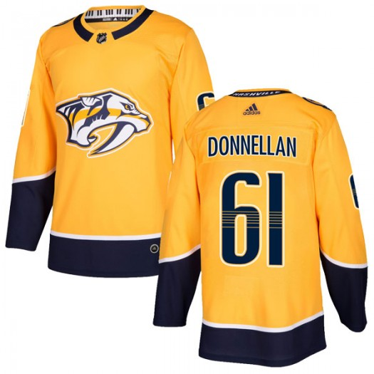 Mike Donnellan Nashville Predators Youth Adidas Authentic Gold Home Jersey