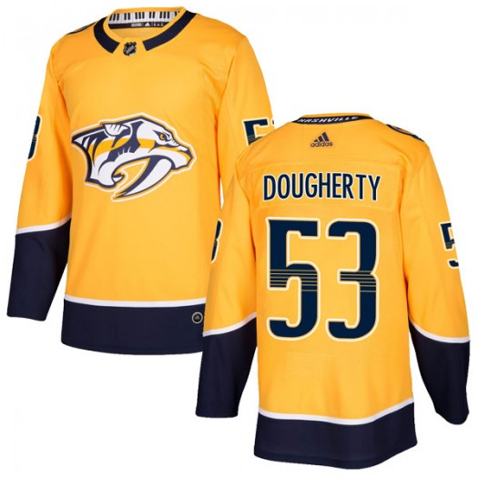 Jack Dougherty Nashville Predators Youth Adidas Authentic Gold Home Jersey