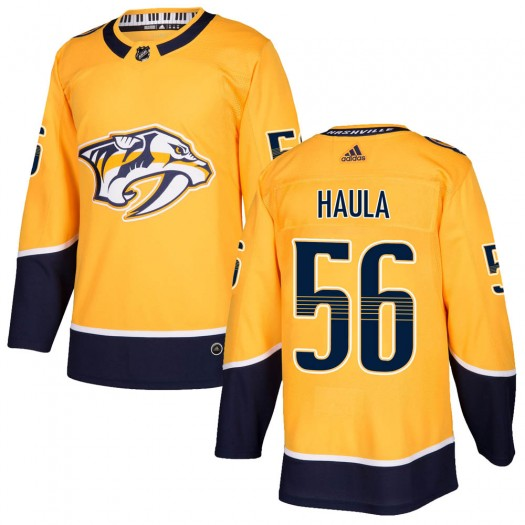 Erik Haula Nashville Predators Youth Adidas Authentic Gold Home Jersey