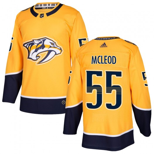Cody Mcleod Nashville Predators Youth Adidas Authentic Gold Cody McLeod Home Jersey