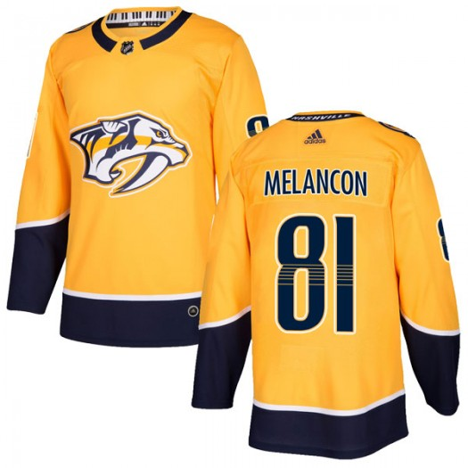 T.J. Melancon Nashville Predators Youth Adidas Authentic Gold Home Jersey
