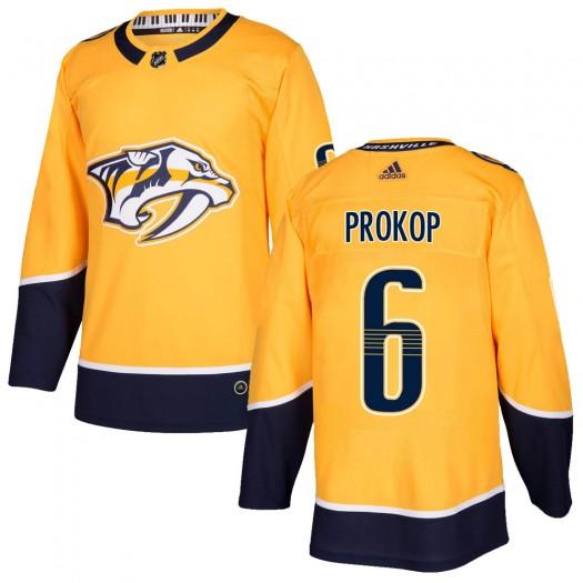 Luke Prokop Nashville Predators Youth Adidas Authentic Gold Home Jersey
