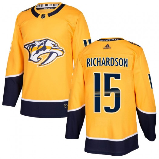 Brad Richardson Nashville Predators Youth Adidas Authentic Gold Home Jersey