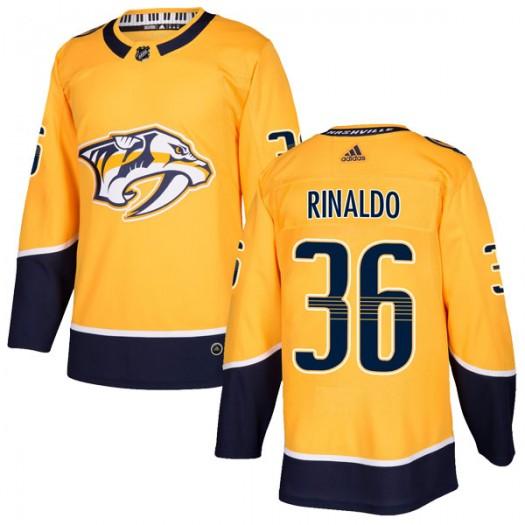 Zac Rinaldo Nashville Predators Youth Adidas Authentic Gold Home Jersey