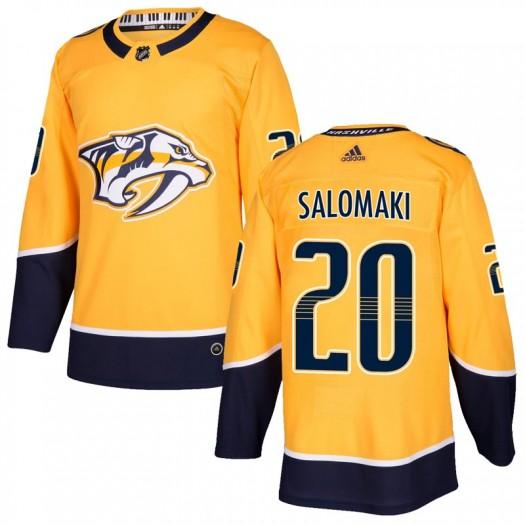 Miikka Salomaki Nashville Predators Youth Adidas Authentic Gold Home Jersey
