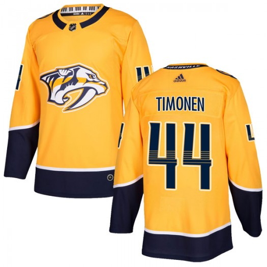 Kimmo Timonen Nashville Predators Youth Adidas Authentic Gold Home Jersey