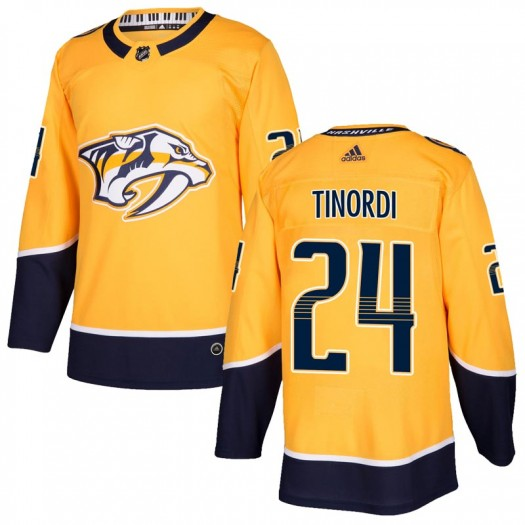 Jarred Tinordi Nashville Predators Youth Adidas Authentic Gold Home Jersey