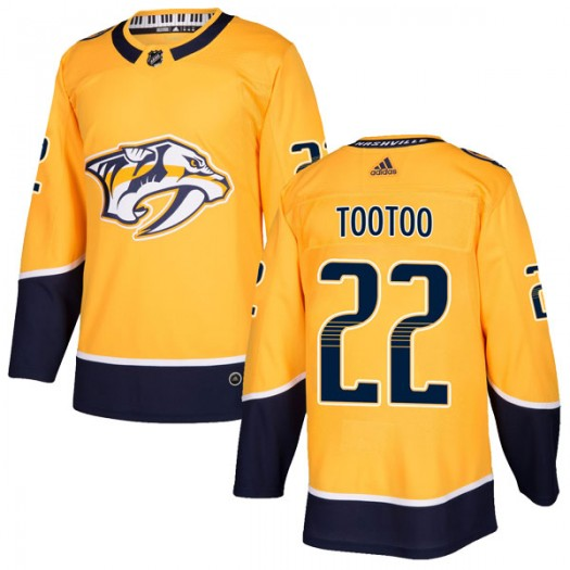 Jordin Tootoo Nashville Predators Youth Adidas Authentic Gold Home Jersey