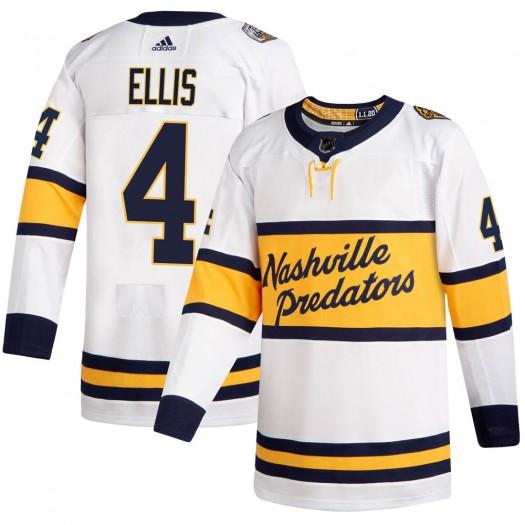 Ryan Ellis Nashville Predators Men's Adidas Authentic White 2020 Winter Classic Jersey