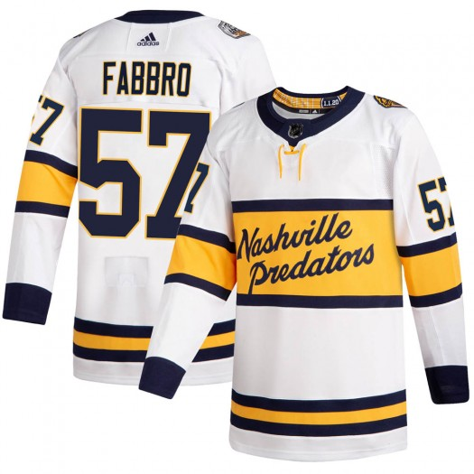 Dante Fabbro Nashville Predators Men's Adidas Authentic White 2020 Winter Classic Jersey