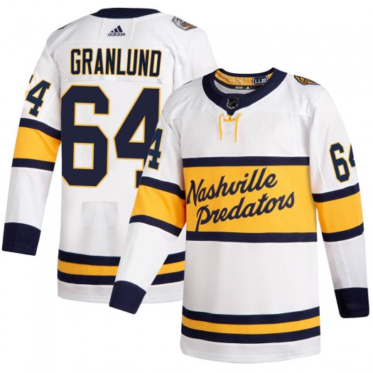 Mikael Granlund Nashville Predators Men's Adidas Authentic White 2020 Winter Classic Jersey