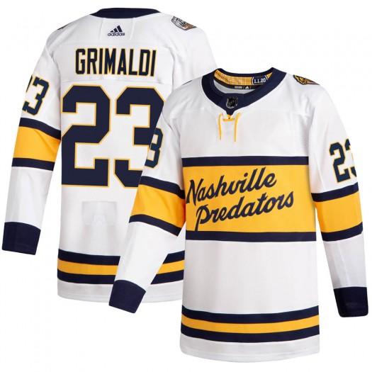 Rocco Grimaldi Nashville Predators Men's Adidas Authentic White 2020 Winter Classic Jersey