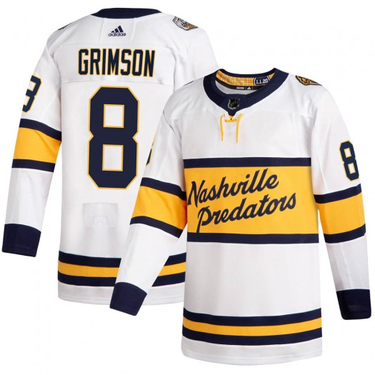 Stu Grimson Nashville Predators Men's Adidas Authentic White 2020 Winter Classic Jersey