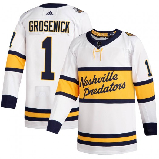 Troy Grosenick Nashville Predators Men's Adidas Authentic White ized 2020 Winter Classic Player Jersey