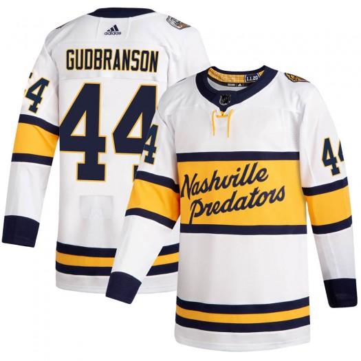 Erik Gudbranson Nashville Predators Men's Adidas Authentic White 2020 Winter Classic Player Jersey