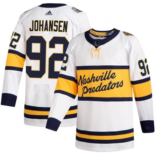 Ryan Johansen Nashville Predators Men's Adidas Authentic White 2020 Winter Classic Jersey