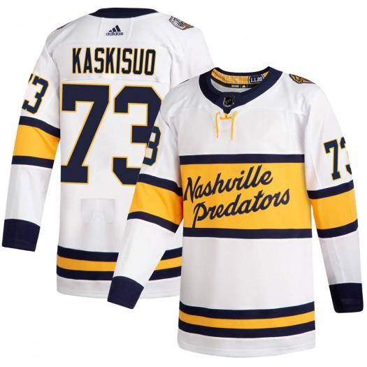 Kasimir Kaskisuo Nashville Predators Men's Adidas Authentic White 2020 Winter Classic Player Jersey