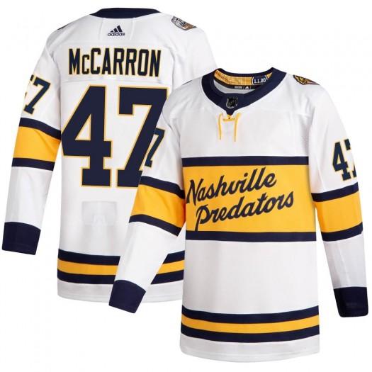 Michael McCarron Nashville Predators Men's Adidas Authentic White ized 2020 Winter Classic Player Jersey