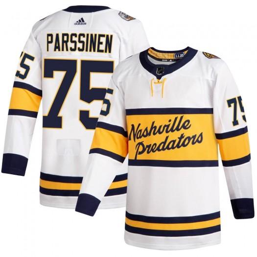 Juuso Parssinen Nashville Predators Men's Adidas Authentic White 2020 Winter Classic Player Jersey