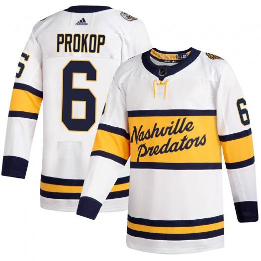 Luke Prokop Nashville Predators Men's Adidas Authentic White 2020 Winter Classic Player Jersey