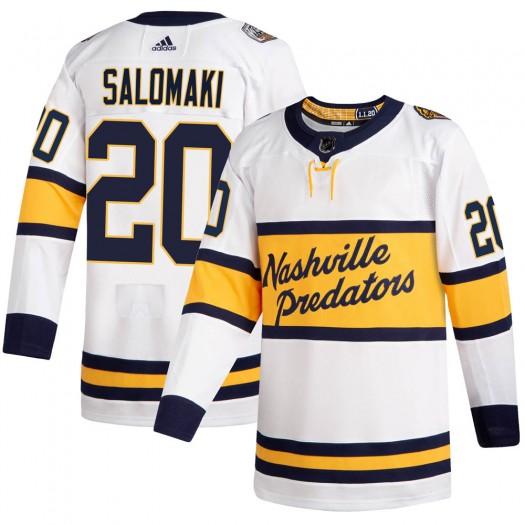 Miikka Salomaki Nashville Predators Men's Adidas Authentic White 2020 Winter Classic Jersey