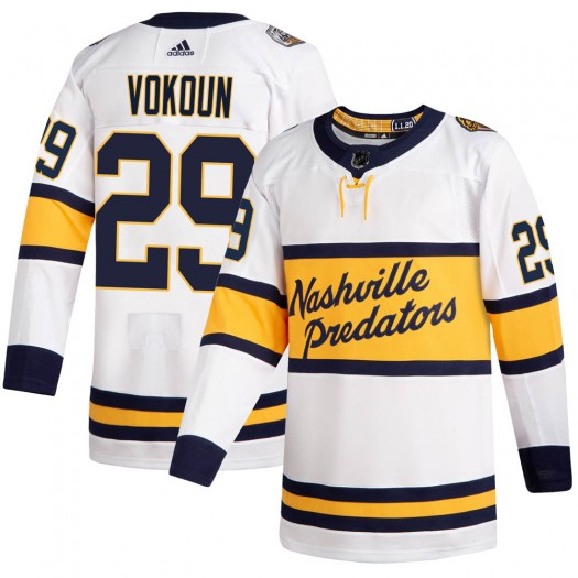 Tomas Vokoun Nashville Predators Men's Adidas Authentic White 2020 Winter Classic Jersey
