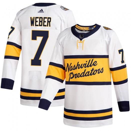 Yannick Weber Nashville Predators Men's Adidas Authentic White 2020 Winter Classic Jersey