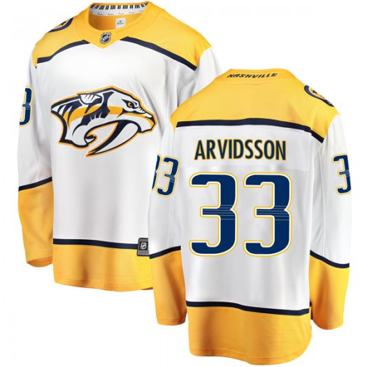 Viktor Arvidsson Nashville Predators Men's Fanatics Branded White Breakaway Away Jersey