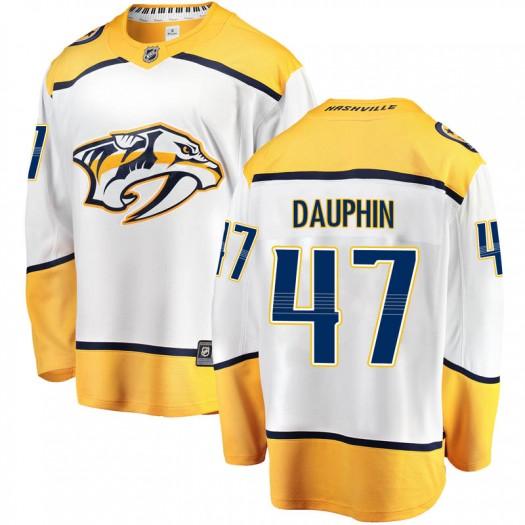 Laurent Dauphin Nashville Predators Men's Fanatics Branded White Breakaway Away Jersey