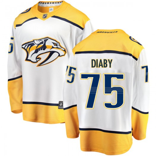 Jonathan-Ismael Diaby Nashville Predators Men's Fanatics Branded White Breakaway Away Jersey
