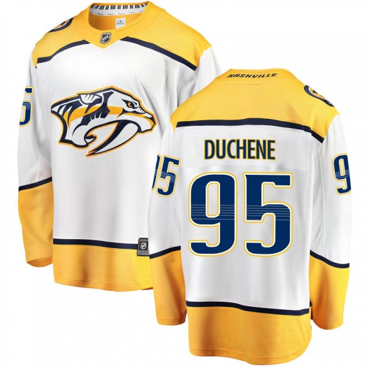 Matt Duchene Nashville Predators Men's Fanatics Branded White Breakaway Away Jersey