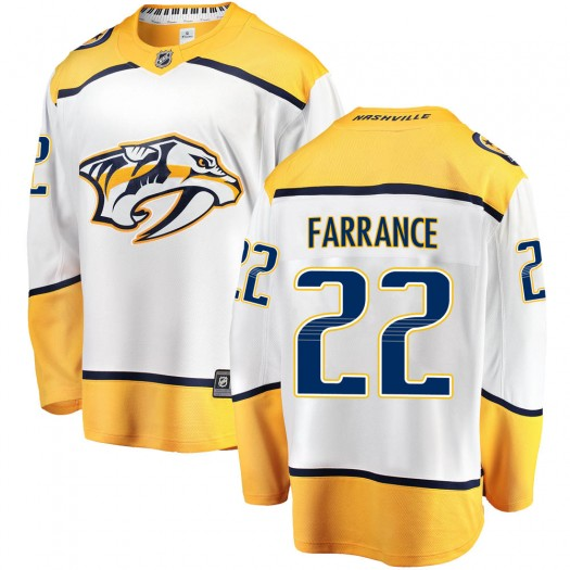 David Farrance Nashville Predators Men's Fanatics Branded White Breakaway Away Jersey