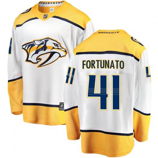 Brandon Fortunato Nashville Predators Men's Fanatics Branded White Breakaway Away Jersey