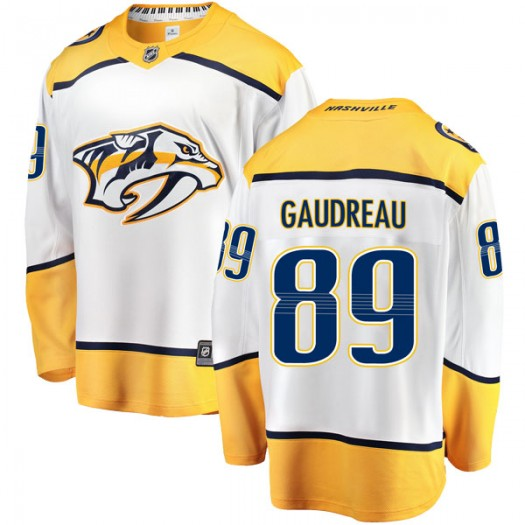 Frederick Gaudreau Nashville Predators Men's Fanatics Branded White Breakaway Away Jersey