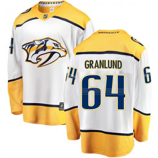 Mikael Granlund Nashville Predators Men's Fanatics Branded White Breakaway Away Jersey