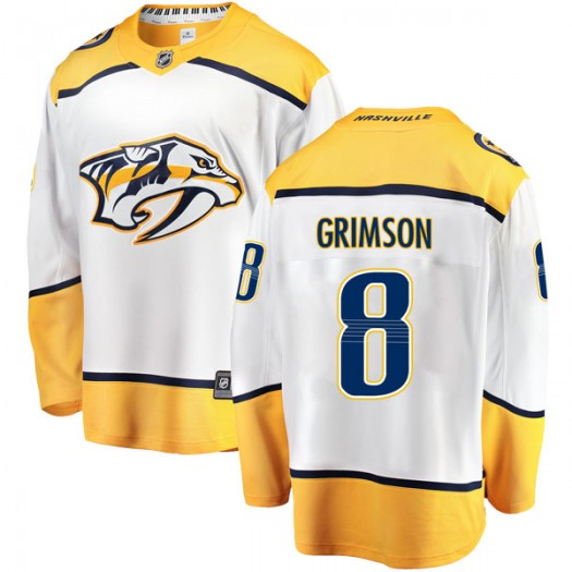 Stu Grimson Nashville Predators Men's Fanatics Branded White Breakaway Away Jersey
