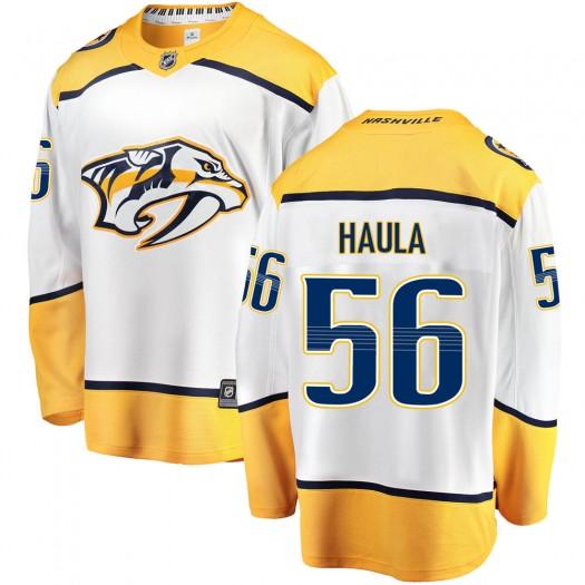 Erik Haula Nashville Predators Men's Fanatics Branded White Breakaway Away Jersey
