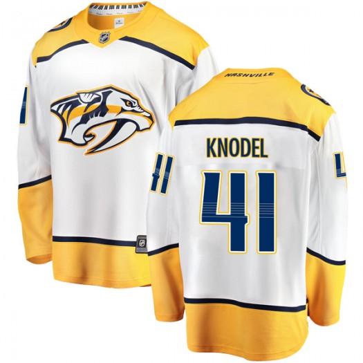 Eric Knodel Nashville Predators Men's Fanatics Branded White Breakaway Away Jersey