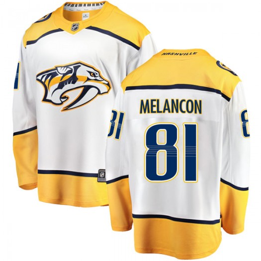 T.J. Melancon Nashville Predators Men's Fanatics Branded White Breakaway Away Jersey