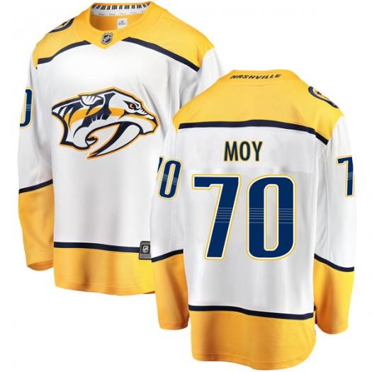 Tyler Moy Nashville Predators Men's Fanatics Branded White Breakaway Away Jersey