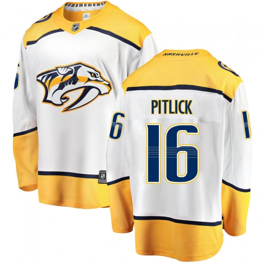 Rem Pitlick Nashville Predators Men's Fanatics Branded White Breakaway Away Jersey