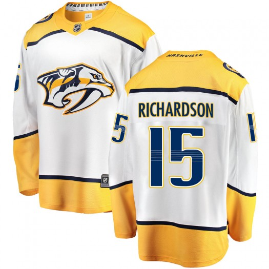 Brad Richardson Nashville Predators Men's Fanatics Branded White Breakaway Away Jersey