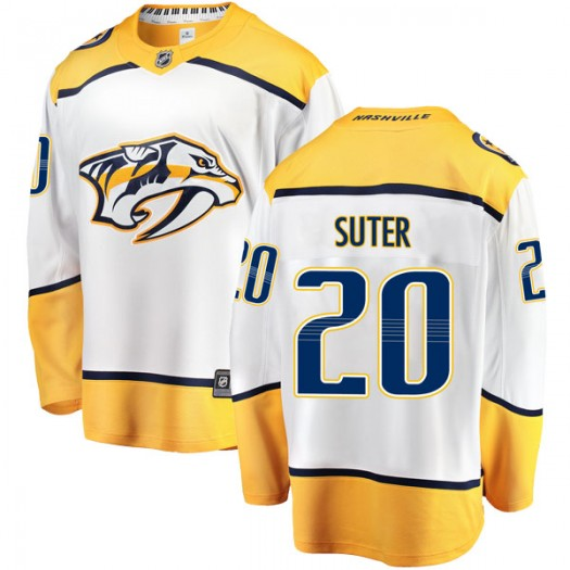 Ryan Suter Nashville Predators Men's Fanatics Branded White Breakaway Away Jersey