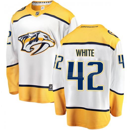 Matt White Nashville Predators Men's Fanatics Branded White Breakaway Away Jersey