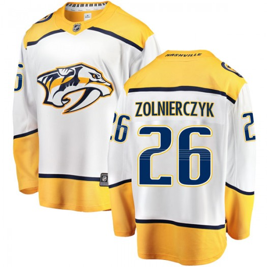 Harry Zolnierczyk Nashville Predators Men's Fanatics Branded White Breakaway Away Jersey