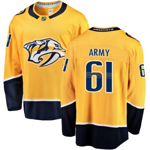 Derek Army Nashville Predators Men's Fanatics Branded Gold Breakaway Home Jersey