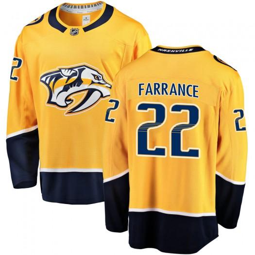 David Farrance Nashville Predators Men's Fanatics Branded Gold Breakaway Home Jersey