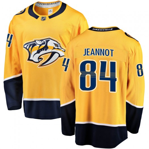 Tanner Jeannot Nashville Predators Men's Fanatics Branded Gold Breakaway Home Jersey