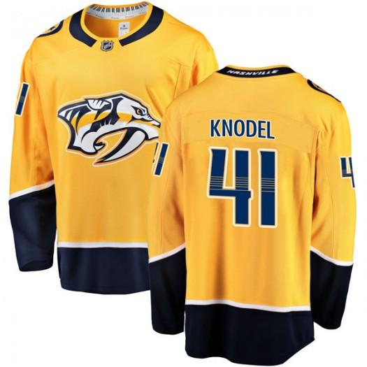 Eric Knodel Nashville Predators Men's Fanatics Branded Gold Breakaway Home Jersey